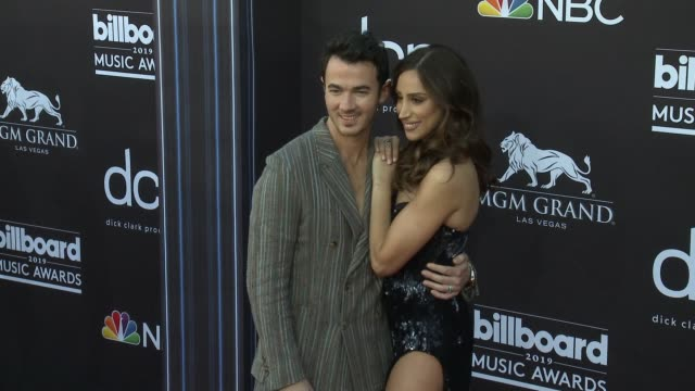 kevin jonas and danielle jonas at the 2019 billboard music awards at mgm grand garden arena on may 1 2019 in las vegas nevada - mgm grand garden arena stock videos & royalty-free footage
