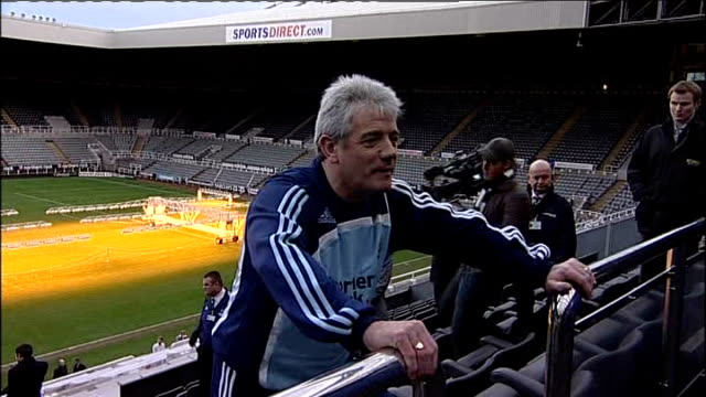Kevin Keegan becomes new manager of Newcastle United FC ENGLAND Newcastle St James's Park EXT Kevin Keegan posing in stands for photocall