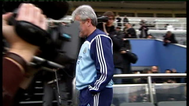 Kevin Keegan's future uncertain at Newcastle United / Alan Curbishley resigns as West Ham United manager TX St James's Park EXT Kevin Keegan along...