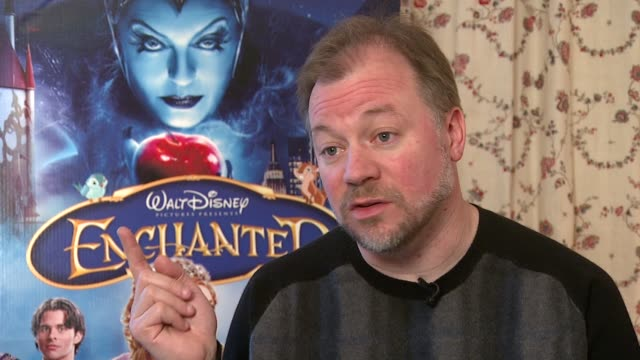 kevin lima tells how he was inspired to become a disney animator at the enchanted junket interviews at the soho hotel in london on march 13 2008 - animator stock videos & royalty-free footage