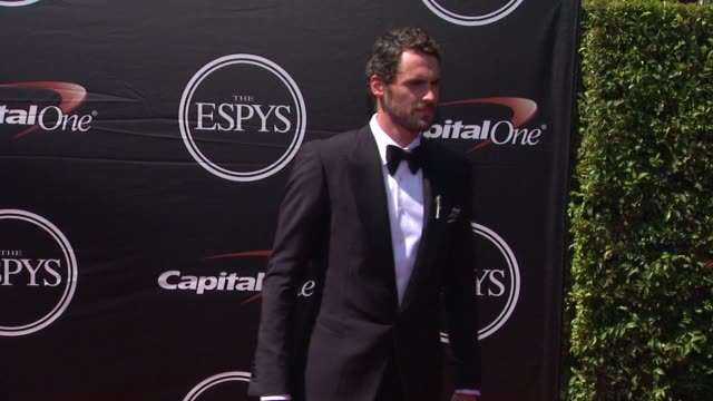 kevin love at the 2015 espys at microsoft theater on july 15 2015 in los angeles california - microsoft theater los angeles stock videos and b-roll footage