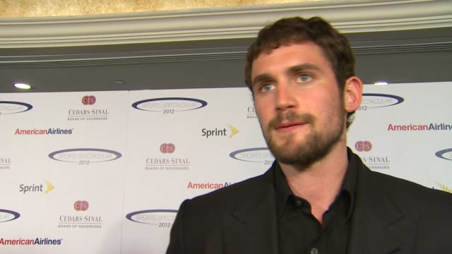 kevin love on how he feels to be honored, his thoughts on the other honorees, why it was important to attend the sports spectacular , supporting a... - playoffs stock videos & royalty-free footage