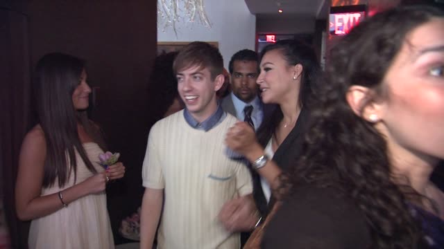 kevin mchale and naya rivera at the glee's william mckinley high school comes to life at the first ever 'samsung att spring fling' at new york ny - naya rivera stock videos and b-roll footage