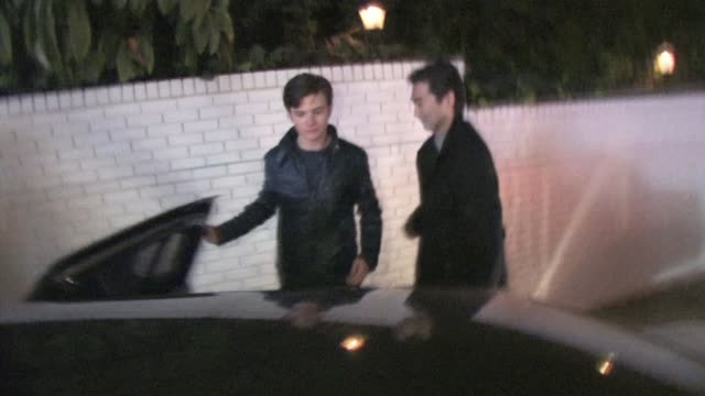 kevin mchale chris colfer at chateau marmont in west hollywood at the celebrity sightings in los angeles at los angeles ca - chris colfer stock videos and b-roll footage