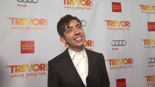 kevin mchale on why he supports the trevor project talks about the psa he recorded for the trevor project what he is most looking forward to and why... - the trevor project stock videos and b-roll footage
