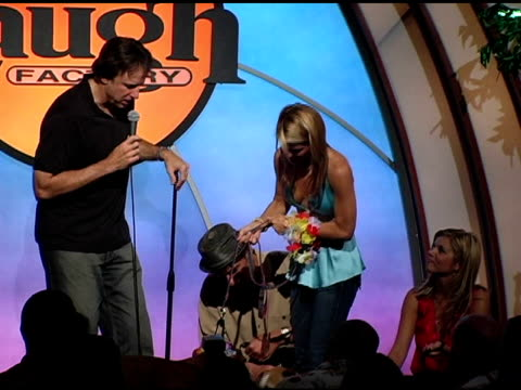 kevin nealon rachael harris ryan stiles and lori loughlin at the 4th annual much love animal rescue celebrity comedy benefit at the laugh factory in... - rachael harris stock videos and b-roll footage