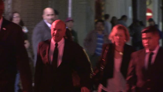 kevin o'leary departs jimmy kimmel studio hollywood celebrity sightings in los angeles on in los angeles california - jimmy kimmel stock videos and b-roll footage