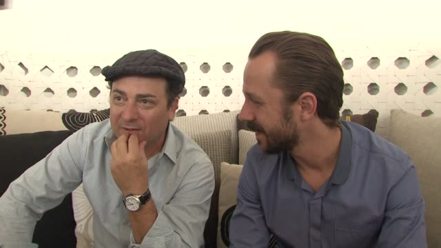 kevin pollak and giovanni ribisi on the experience of making their film. at the cannes film festival 2009: middle men interviews at cannes . - giovanni ribisi stock videos & royalty-free footage