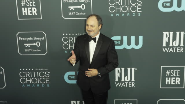 kevin pollak at the 25th annual critics' choice awards at barker hangar on january 12 2020 in santa monica california - gif stock videos and b-roll footage