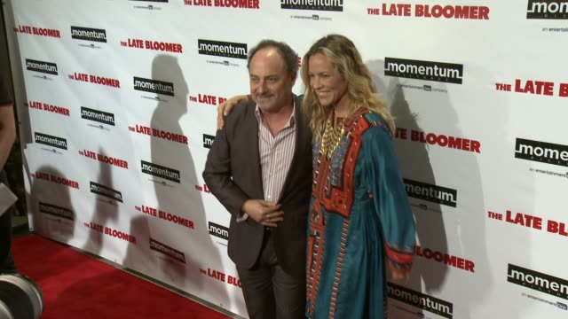 kevin pollak, maria bello at 'the late bloomer' premiere in los angeles, ca 10/3/16 - maria bello stock videos & royalty-free footage