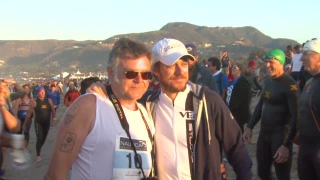 kevin rahm and kevin mcnally at 26th annual nautica malibu triathlon on 9/16/12 in malibu ca - nautica malibu triathlon stock videos & royalty-free footage