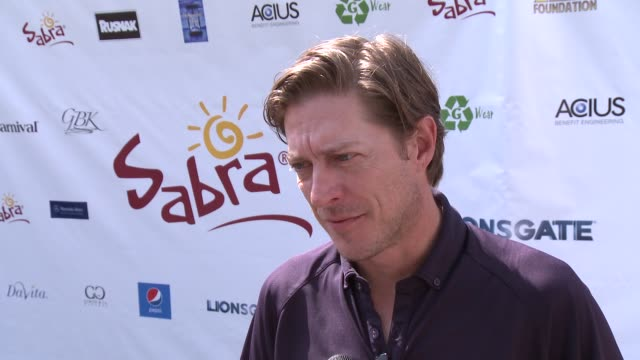 INTERVIEW Kevin Rahm on if the afternoon gets competitive at The 7th Annual George Lopez Celebrity Golf Classic Presented By Sabra Salsa at Lakeside...