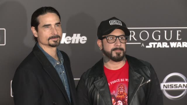 """vídeos de stock, filmes e b-roll de kevin richardson and a.j. mclean at """"rogue one: a star wars story"""" world premiere at the pantages theatre on december 10, 2016 in hollywood,... - série de filmes star wars"""