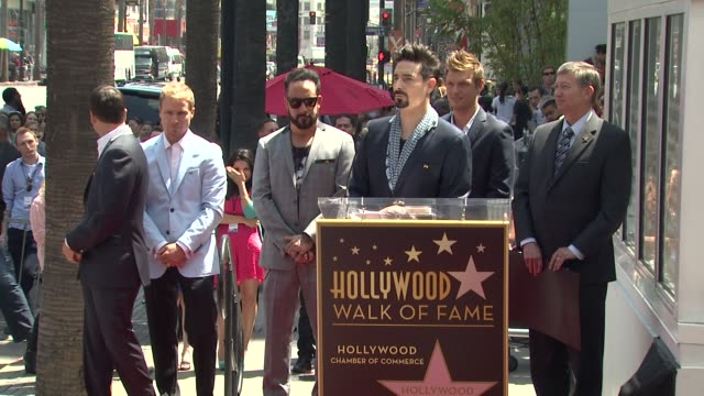 speech kevin richardson on being honored with a star on the hollywood walk of fame at backstreet boys celebrate 20 year career with star on the... - backstreet boys stock videos & royalty-free footage