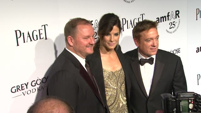 kevin robert frost sandra bullock kevin huvane at the amfar's inspiration gala at los angeles ca - kevin huvane stock videos & royalty-free footage