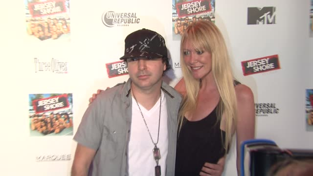 kevin rudolf and guest at the 'jersey shore' soundtrack release party at new york ny - soundtrack stock videos & royalty-free footage