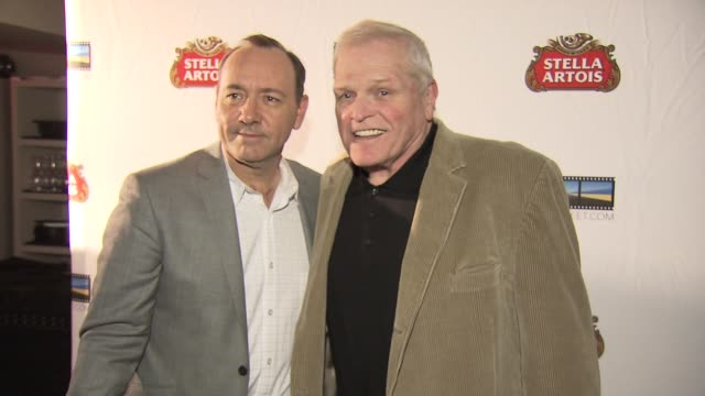 kevin spacey and brian dennehey at the kevin spacey announces winner of 2009 stella artois short film project at new york ny. - brian dennehy stock videos & royalty-free footage