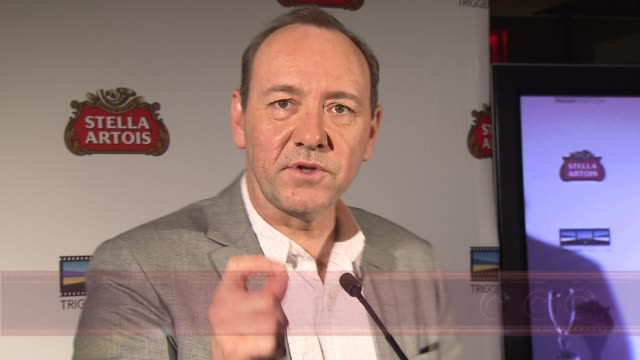 kevin spacey announces winner of 2009 stella artois short film project, new york, ny, 11/01/09. - brian dennehy stock videos & royalty-free footage