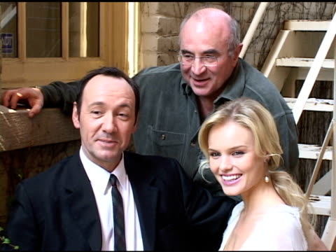 Kevin Spacey Bob Hoskins and Kate Bosworth at the 2004 Toronto International Film Festival 'Beyond The Sea' Portraits at Intercontinental in Toronto...