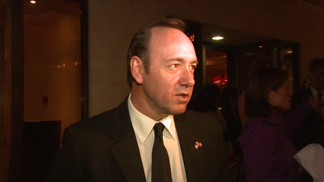 stockvideo's en b-roll-footage met kevin spacey on arts and culture being a necessity in peoples life on the old vic going well but it being tougher in new york but norman conquest... - arts culture and entertainment