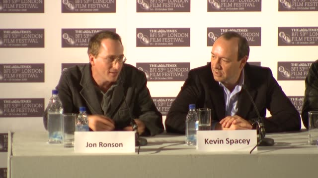kevin spacey on practicing his own psychic moves george clooney on the how the weirdest stuff they came across in the subject matter was actual the... - george clooney stock videos and b-roll footage