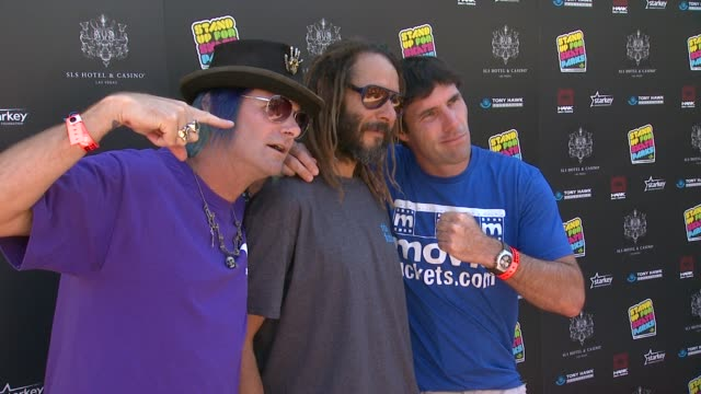 kevin staab tony alva andy macdonald at 10th annual tony hawk's stand up for skateparks benefit on 10/5/13 in los angeles ca - tony hawk skateboarder stock videos and b-roll footage