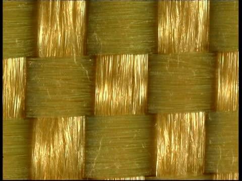 ecu kevlar fabric fibres, locked off - interlocked stock videos & royalty-free footage