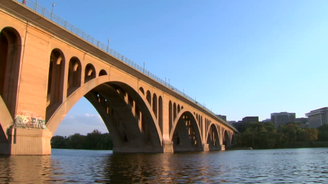 key bridge ws_1 hd (1080/24p - arlington virginia video stock e b–roll