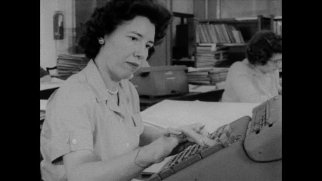 1960 key punch operators at the census bureau - census stock videos & royalty-free footage