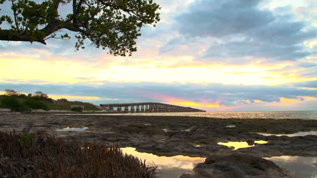 hd dolly: key west bridge at sunrise - key west stock videos & royalty-free footage