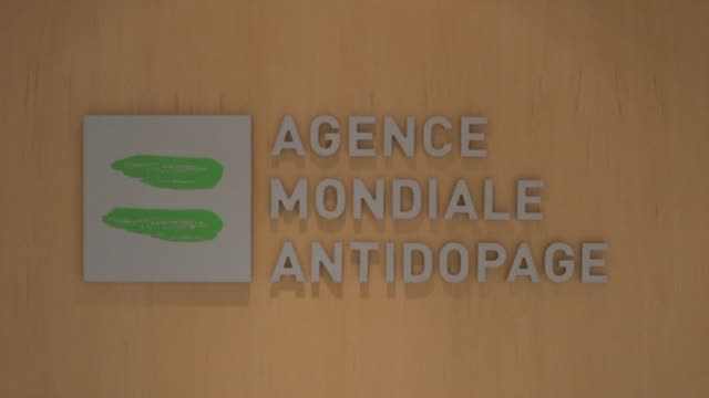 stockvideo's en b-roll-footage met key world anti doping agency panel has recommended russia be barred from all sporting competition for four years after accusing moscow of falsifying... - clean