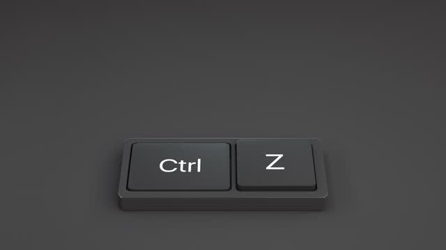 キャンセルのためのキーボード - ペア点の映像素材/bロール