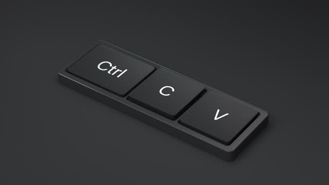 keyboard for copy paste - computer key stock videos & royalty-free footage