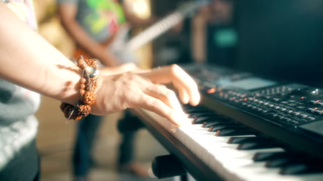 keyboard player - arts culture and entertainment stock videos & royalty-free footage