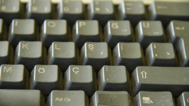 vídeos y material grabado en eventos de stock de teclado - dispositivo de entrada