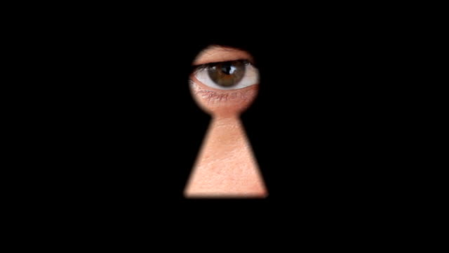 keyhole - big brother orwellian concept stock videos & royalty-free footage