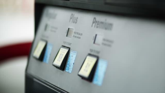 cu r/f keypad of fuel pump / orem, utah, usa - orem utah stock videos & royalty-free footage