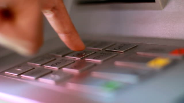 keypad on an atm - cashpoint stock videos & royalty-free footage