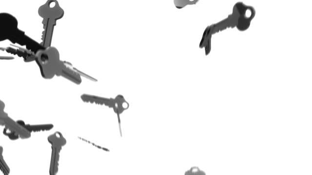 3 d キーの背景ループ銀(フル hd - 車のキー点の映像素材/bロール