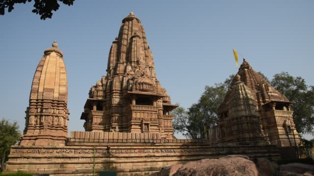 khajuraho temple, india, unesco world heritage site. - madhya pradesh stock videos and b-roll footage