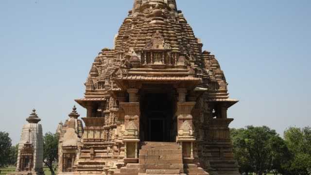 khajuraho temple, india, unesco world heritage site. - hinduism stock videos & royalty-free footage
