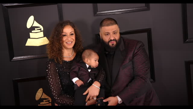 DJ Khaled and Nicole Tuck at the 59th Annual Grammy Awards Arrivals at Staples Center on February 12 2017 in Los Angeles California 4K