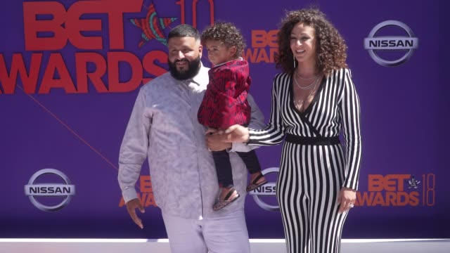 DJ Khaled Asahd Tuck Khaled and Nicole Tuck at the 2018 BET Awards at Microsoft Theater on June 24 2018 in Los Angeles California