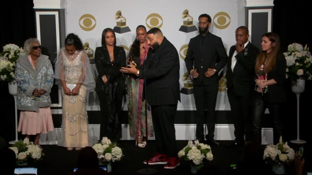 khaled at the 62nd annual grammy awards - press room at staples center on january 26, 2020 in los angeles, california. - grammy awards stock-videos und b-roll-filmmaterial