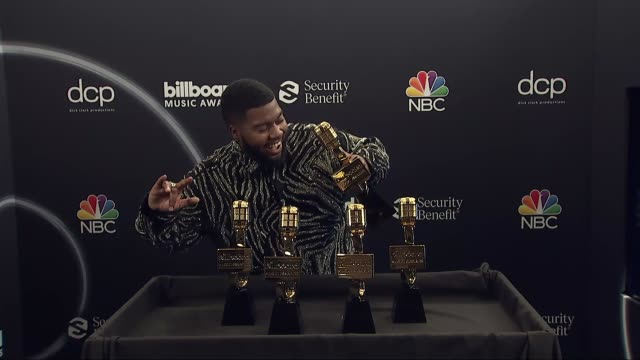 khalid at the 2020 billboard music awards - press room at dolby theatre on october 14, 2020 in hollywood, california. - the dolby theatre stock videos & royalty-free footage