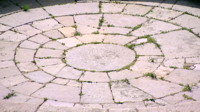 khalwat al-bayada. detail view of the flagstones paving the area known as the areopagus-of-the-elders, in the central sanctuary and theological... - theology stock videos & royalty-free footage