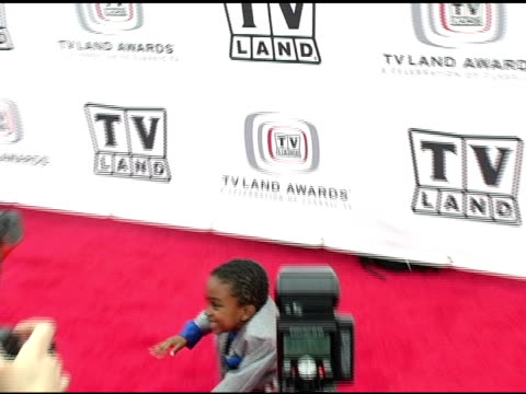 khamani griffin at the 3rd annual tv land awards arrivals at santa monica airport in santa monica, california on march 13, 2005. - khamani griffin stock videos & royalty-free footage