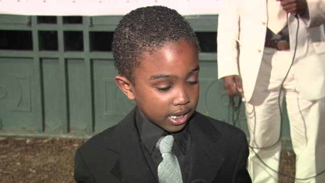 khamani griffin on how he is excited about presenting an award, why he came, and who his favorite rapper is at the 14th annual inner city destiny... - khamani griffin stock videos & royalty-free footage