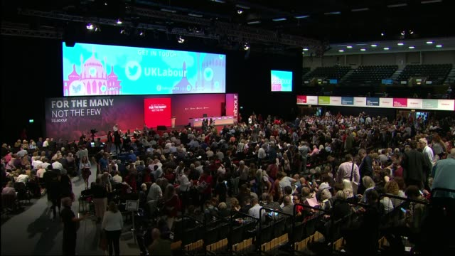 khan says police have foiled 7 attacks since march england east sussex brighton int labour party conference in session - east sussex stock videos & royalty-free footage