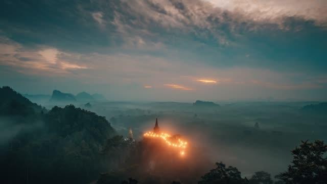 vídeos de stock, filmes e b-roll de khao na nai luang dharma park surat thani tailândia - templo